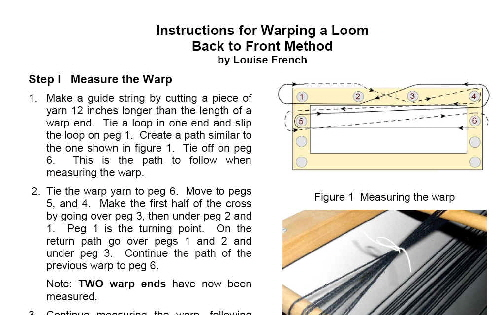 Warping Instructions